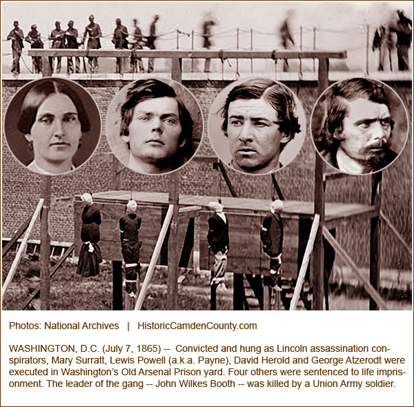 Image result for conspirators of helping john wilkes booth hung