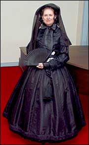 Civil War era mourning dress