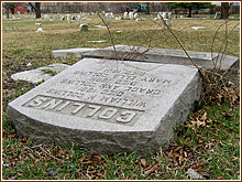 toppled headstone one